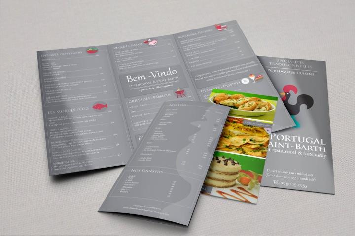 imprimeur impression création graphique graphisme menu restaurant sxm sbh antilles